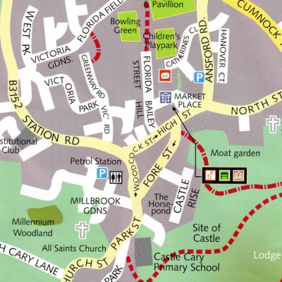 Castle Cary Town Centre Map